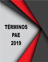 TERMINOS PAE 2019